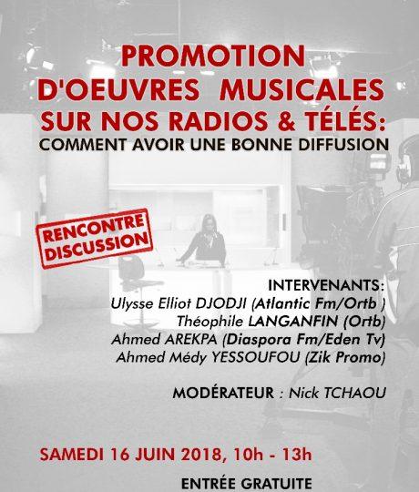Promotion d'oeuvres musicales sur nos radios & télés